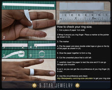 Load image into Gallery viewer, Sterling Silver Baha'i Ringstone Symbol Ring - Sizes 5 to 10.5