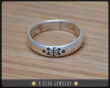 Load image into Gallery viewer, Sterling Silver Baha'i Ringstone Symbol Ring - Sizes 2.5 to 10.5