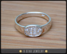 Load image into Gallery viewer, Silver Baha'i Ringstone Symbol Ring - Sizes 2 to 11.5