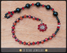 Load image into Gallery viewer, Crystal Radiant Star wire-wrapped Baha'i Prayer Beads - 5 x 19 (Alláh-u-Abhá) - BPBA48