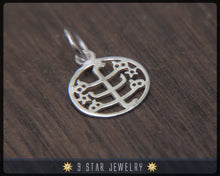 Load image into Gallery viewer, BPS18 - Sterling Silver 9 Star Bahai Pendant w/ Ringstone Symbol