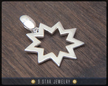 Load image into Gallery viewer, BPS21 - 925 Sterling Silver 9 Star Baha'i Pendant