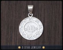 Load image into Gallery viewer, BPS20 - Sterling Silver Bahai 9 Star Pendant w/ Ringstone Symbol