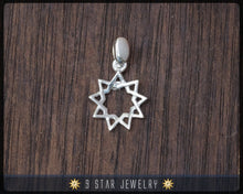 Load image into Gallery viewer, BPS3s - 925 Sterling Silver 9 Star Baha'i Pendant