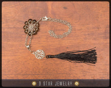 "Load image into Gallery viewer, Smoky Quartz Radiant Star Rear View Mirror Charm - ""Lightbringer"" Lucky charm - BCC5"