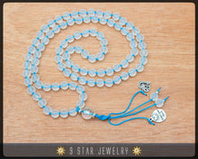 "Load image into Gallery viewer, Matte Crystal Hand Knotted Baha'i Prayer Beads - Full 95 (Alláh-u-Abhá) ""Aarti""- BPB67"