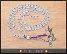 "Load image into Gallery viewer, Matte Crystal Hand Knotted Baha'i Prayer Beads - Full 95 (Alláh-u-Abhá) ""Miya""- BPB68"