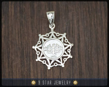 Load image into Gallery viewer, BPS23 - 925 Sterling Silver 9 Star Baha'i Pendant with Ring Stone Symbol