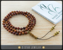 "Load image into Gallery viewer, Wooden Hand Knotted Baha'i Prayer Beads - Full 95 (Alláh-u-Abhá) ""Silas""- BPB64"