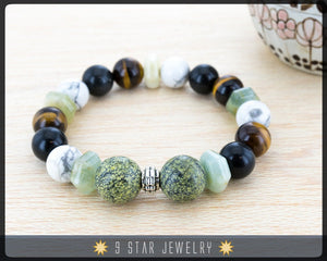 "Baha'i Prayer Beads Bracelet - Calming Beads - (Alláh-u-Abhá) ""The Noble Soul"" BPB46"
