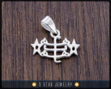Load image into Gallery viewer, Sterling Silver Baha'i Ringstone Symbol pendant - BPS29