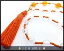 Load image into Gallery viewer, Baha'i Prayer Beads - MARIGOLD- 5 x 19 (Alláh-u-Abhá) - BPBA37