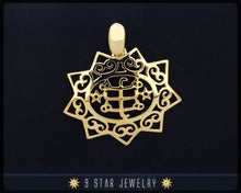 Load image into Gallery viewer, Gold 9 Star Baha'i Ringstone Symbol Pendant - (electroplate) - BPGP13