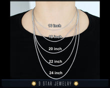 "Load image into Gallery viewer, Sterling Silver 20"" Figaro Chain Necklace"