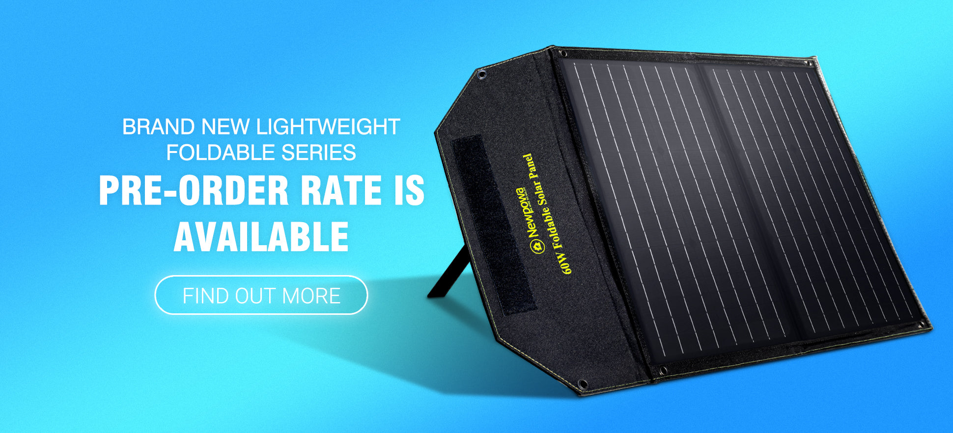 Newpowa 60W Foldable Solar Panel pre-order is available