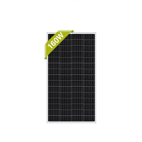 160W Monocrystalline 12V Solar panel charging Kit (w/Mounting brackets)