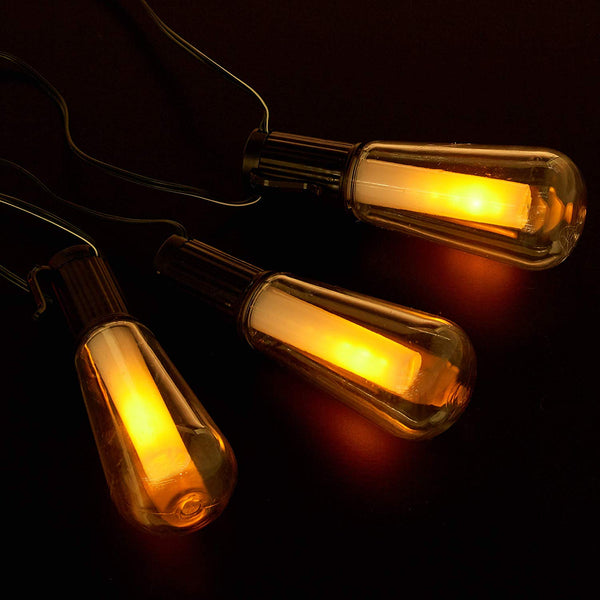 NewPowa Solar Powered Flickering Flame String Lights - newpowa
