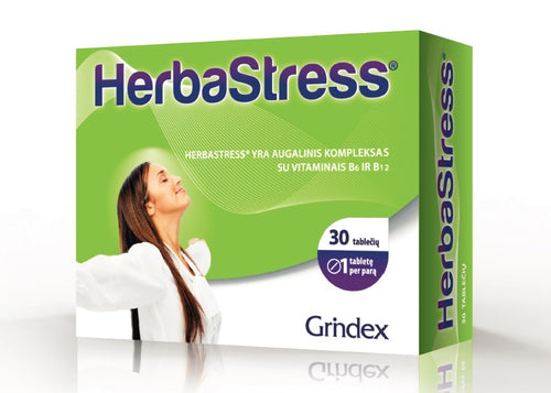 Herbastress 30 tablets - 5 Plant Extracts and B Vitamins Combination of Nervous System