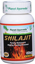 Load image into Gallery viewer, SHILAJIT PLANET AYURVEDA 500mg 60 capsules