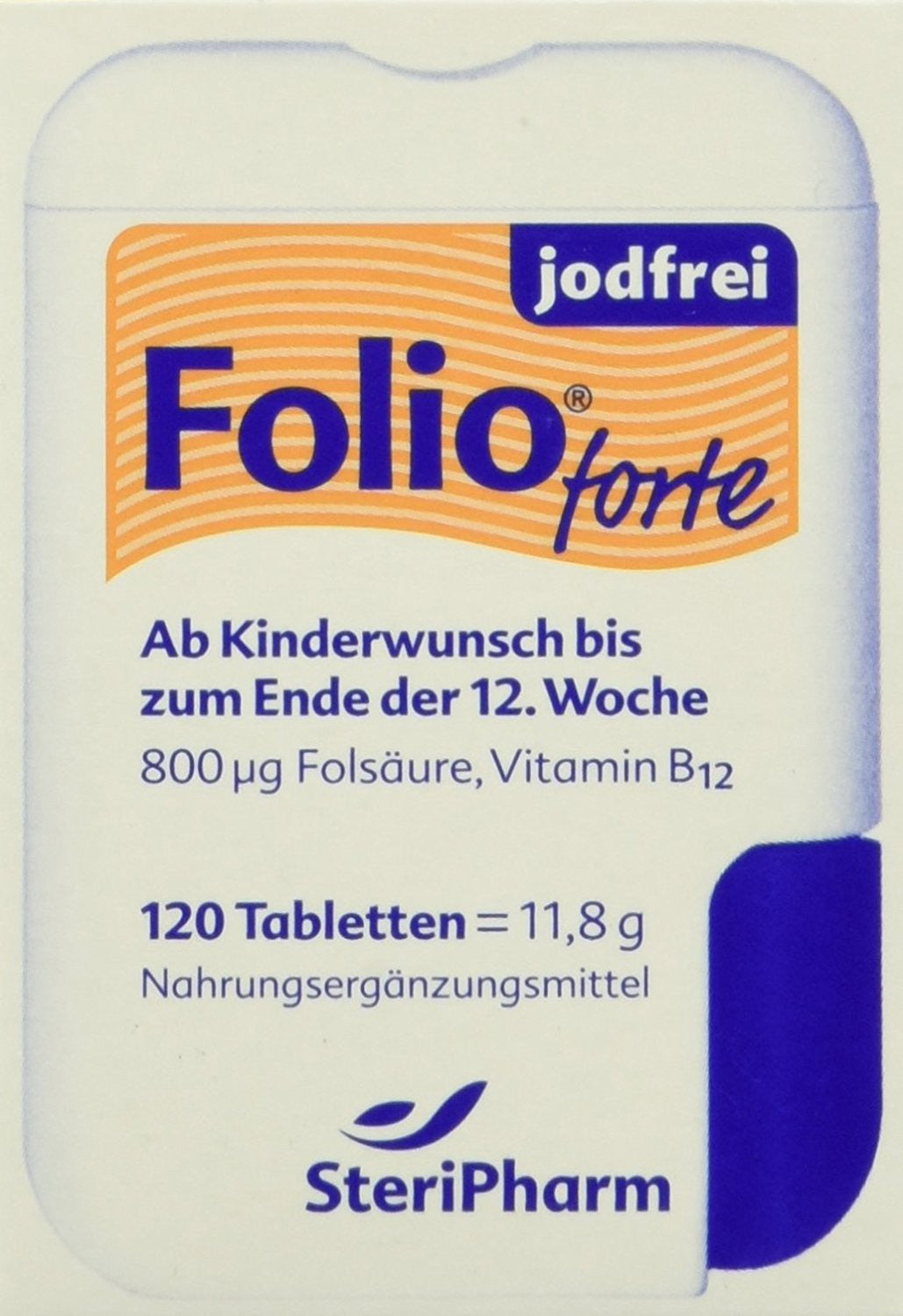 Folio forte iodine-free film-coated 120 tablets, 11,8g