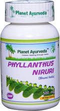 Load image into Gallery viewer, PHYLLANTHUS NIRURI PLANET AYURVEDA 500mg 60 capsules