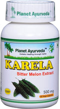 Load image into Gallery viewer, KARELA BITTER MELON PLANET AYURVEDA 500mg 60 capsules