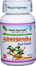 Load image into Gallery viewer, ASHVAGANDHA PLANET AYURVEDA 500mg 60 capsules