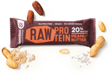 Load image into Gallery viewer, BOMBUS RAW PROTEIN peanut butter bar 50g Pack of 20pcs