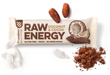 Load image into Gallery viewer, BOMBUS RAW ENERGY coconut&cocoa bar 50g Pack of 20pcs
