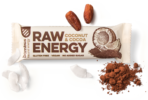 BOMBUS RAW ENERGY coconut&cocoa bar 50g Pack of 20pcs