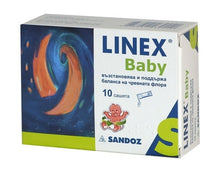 Load image into Gallery viewer, Linex Baby Powder 10 Sachets For Oral Suspension