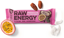 Load image into Gallery viewer, BOMBUS RAW ENERGY maracuja&coconut bar 50g Pack of 20pcs