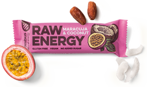 BOMBUS RAW ENERGY maracuja&coconut bar 50g Pack of 20pcs