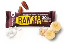 Load image into Gallery viewer, BOMBUS RAW PROTEIN banana bar 50g Pack of 20pcs