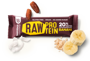 BOMBUS RAW PROTEIN banana bar 50g Pack of 20pcs