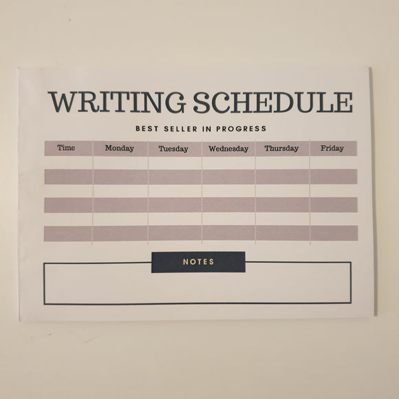 Writing Schedule Planner Pad