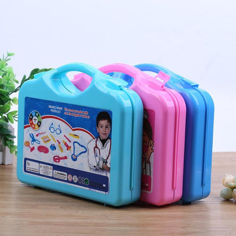15pcs Children Pretend Set Portable Doctor Nurse Suitcase