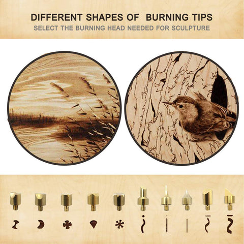 Wood Burning Kit 101 Pcs Set | Pyrography Pen
