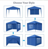 "Image of 118"" Screened Gazebo Three Height Adjustable Instant Pop Up Outdoor Tent"