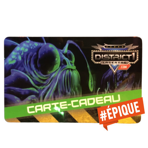 "Carte-cadeau ""NUMÉRIQUE"" DISTRICT 1 LASERTAG - DISTRICT 1 LASERTAG"