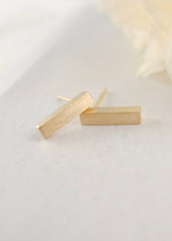 Caroline Brushed Bar Earrings