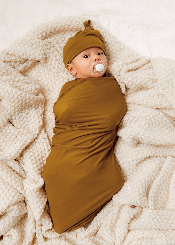 Swaddle + Hat Set in Ginger