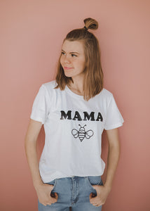 Mama Bee Tee in White