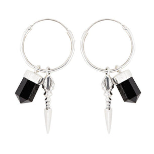 Rock 'n' Rolla Charmed Earrings - Silver