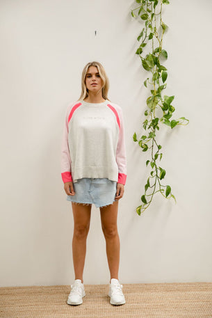Embossed Sport Knit - Pale Pink