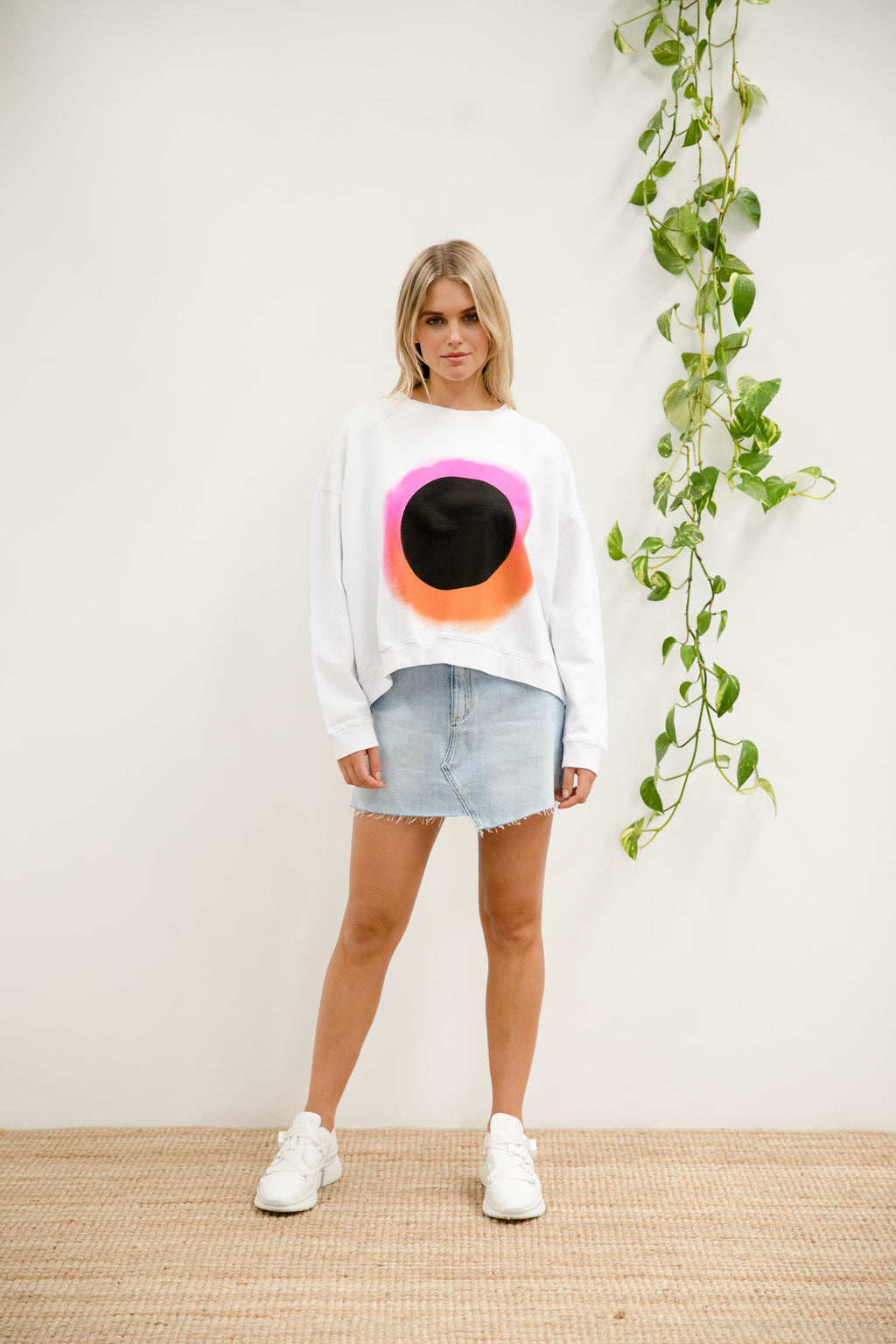 Bande Studio Circle Haze Sweat - Optic White