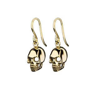Skull Earrings - Gold