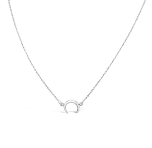 Mini Moon Necklace - Silver
