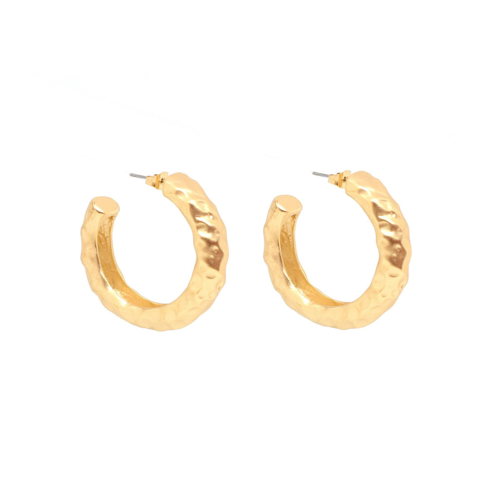 Bling Bar Angelina Hoops - Matte Gold