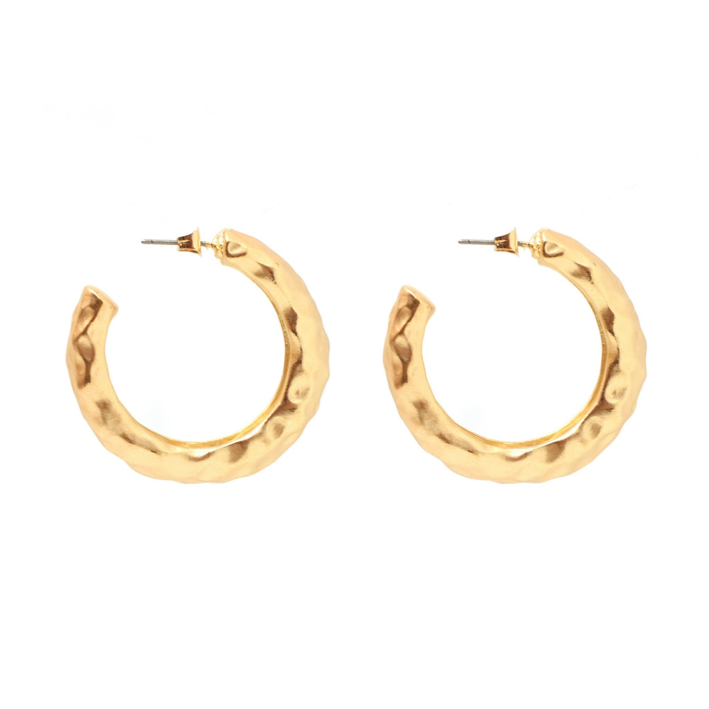 Angelina Hoops - Matte Gold